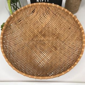Large Hand Woven Round Basket